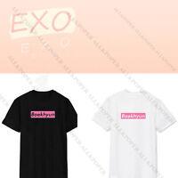 Kpop EXO PLANET #3 Tshirt The EXO'rDIUM T-shirt Chanyeol Kris Unisex Cotton Kai