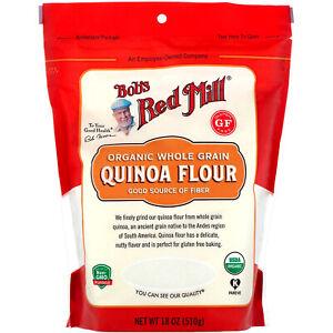 Organic, Whole Grain Quinoa Flour, 18 oz (510 g)