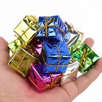 12Pcs/Bag Christmas Pendant Drop Ornaments Fill Foam Xmas Decor Square Gift Box