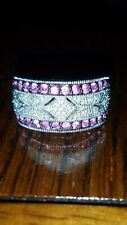STERLING SILVER PINK RUBY AND DIAMOND ANTIQUE BAND RING 7 MACYS $500