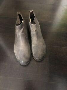 Clarks Narrative Women Brown Ankle Chelsea Boots Uk6 Eu39 Heel 3cm