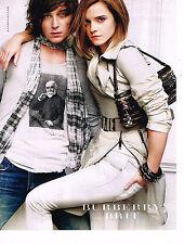 PUBLICITE ADVERTISING 104  2010  BURBERRY BRIT  pret à porter accessoires