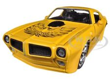 1972 PONTIAC FIREBIRD TRANS AM YELLOW 1/24 DIECAST CAR MODEL BY JADA 96798