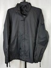 Woolrich mens womens jacket coat sz L black nylon lightweight