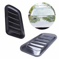 Black Car Auto Car Air Flow Intake Scoop Turbo Bonnet Vent Cover Hood Fender