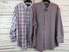 Lot Of 2 Nordstrom Men's Plaid Long Sleeves Button Front Shirts Size 18 1/2 - 34