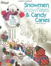 Snowmen Snowflakes & Candy Canes Plastic Canvas Patterns Tissue Cover Windchime