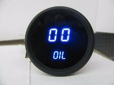 INTELLITRONIX 4 DIGITAL GAUGE SET BLUE LEDs Volt Temp Oil P Fuel Black Fuel USA