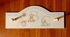 Wall Hook Coat Hat Hanger Baby Nursery Childs Room Decor Lightweight Wood ABC's