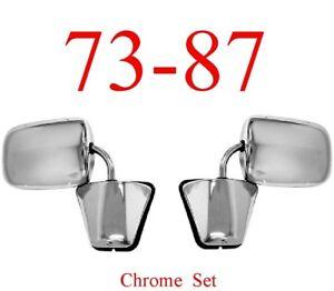73 87 Chevy Chrome Mirror Assembly Set, GMC Truck Blazer Jimmy 0850-555
