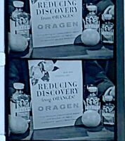 "16mm Advertising Film Reel - ORAGEN ""Reducing Discovery"" Diet Aid (C18)"