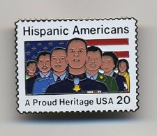 Vintage Hispanic American USA 20-Cent USPS Postage Stamp Lapel Pin Pinback