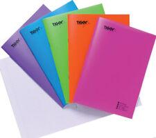 Libro de ejercicio forrado de A5 Cubierta Brillante Portátil Elección de Colores Trabajo Escolar Casa