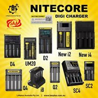 Nitecor D4 D2 New i4 New i2 i8 Q2 Q4 SC2 SC4 UMS4 V2 Battery Charger 18650 AA