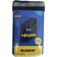 "Jay Franco & Sons NINJA Blanket 62"" x 90"" Super Soft Polyester Plush Blue Black"