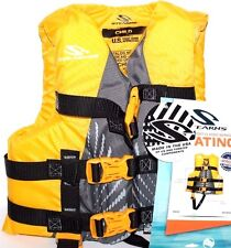 STEARNS BOATING SKI VEST CHILD FLOTATION AID TYPE III 30-50 LBS YELLOW