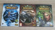 WORLD OF WARCRAFT EXPANSION SET X3 DVD ROM WRATH OF THE LICH KING PANDARIA