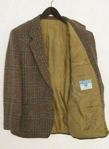 Men 70's Harris Tweed Blazer Daniel Hechter Scottish Wool EU52 UK/US42 L HA174