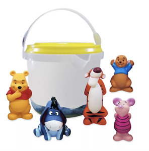 Disney Winnie The Pooh Deluxe Bath Toys 5 Figure Figures Set Tub Toy Playset