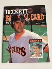 Beckett Baseball Monthly Issue 46 January 1989 Will Clark David Cone