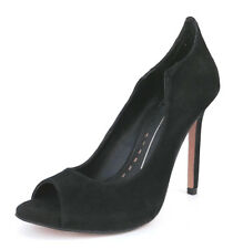 Dolce Vita Women's Isabel, Black Suede, 8.5 M US, Open toe, Pump Heels