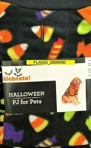 HALLOWEEN PJ's For Pets Dog Costume Sweater Holiday XL Black Candy Corn Lolipops
