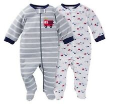 Gerber Boys 2-Pack Firetrucks Sleeps 'n Plays Set Size 3-6M BABY CLOTHES GIFT