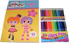 niños niñas LaLaLoopsy Libro Para Colorear/Actividad Pad & 16 rotuladores & 16