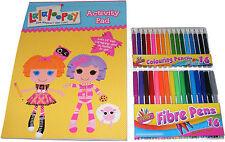 niñas LaLaLoopsy Libro Para Colorear/Actividad Pad & 16 rotuladores & 16 Lápices