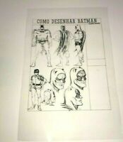 Batman Dark Knight How To Draw Carmine Infantino Production Art Transparency