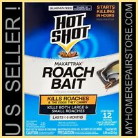 12/$12—1 BOX OF 12— HOT SHOT —MAXATTRAX ROACH BAIT STATIONS —KILLS ROACHES &EGGS