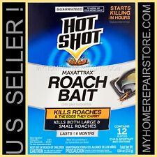 12/$12—1 BOX OF 12— HOT SHOT —MAXATTRAX ROACH BAIT STATIONS —KILLS ROACHES &EGGS