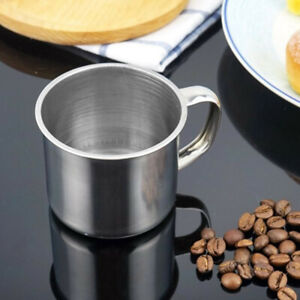 Tea Metal Drinking Tumbler Pint Portable Cup Camping Coffee Mug Stainless Steel