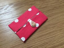 Handmade Packet Tissue Holder - Cath Kidston Red Spot Fabric