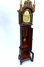DOLLHOUSE MINIATURE  HAND-PAINTED  GRAND-FATHER  CLOCK WITH STORAGE SPACE