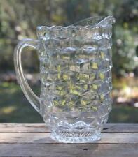 "Vintage FOSTORIA ""AMERICAN"" Water Ice Tea PITCHER 8.5"" Holds 48 oz Cube Block"