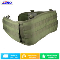 "MOLLE Battle Belt 38""+ Green Tactical Modular PALS Padded Mesh Lining Contoured"