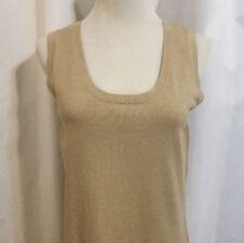 Jones Wear Studio Knit Shirt Top Nwt Women's Med Beige Silk Blend Sleeveless