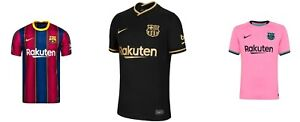 Men's Barcelona Football Soccer Home,Away,Third Shirt Short Sleeve 2020-21