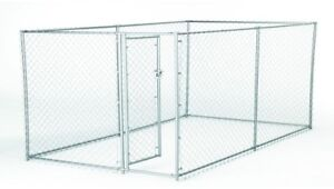 Dog Pet Fence Enclosure Galvanized Chain Link with PC Frame Box Kit Steel Frame