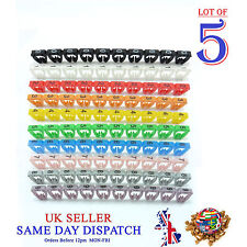 500x Colourful Cable Markers C-Type Marker Number Label Tag 7mm
