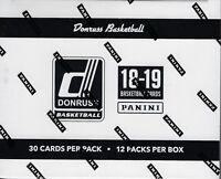 2018-19 Donruss Basketball New NBA Trading Cards 360ct FAT PACK Box FS