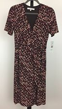 New Evan-Picone size 8 lined knit dress crossover neckline short sleeved NWT $89