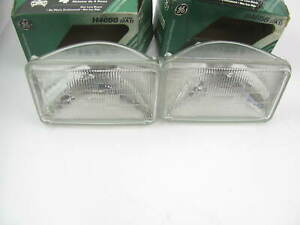 (2) Ge H4656 Sealed Beam Headlamp Headlight Bulb 12V 35 Watt Low Beam