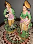 ANTIQUE OLD STAFFORDSHIRE WARE ENGLAND - PAIR BOY AND GIRL