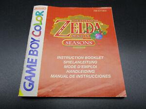 Zelda Oracle of Seasons Gameboy Color Spielanleitung Instruction Booklet EUR