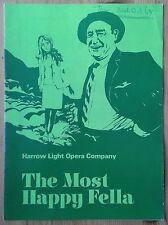The Most Happy Fella programme ABC Theatre Harrow Light Opera Company Oct 1968