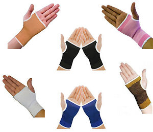 2 Elastic Wrist Glove Palm Hand Supports Arthritis Brace Sleeve Bandage Wrap Gym