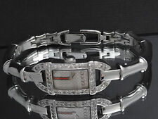GUCCI Women's Patterned Silver Tone Dial 6800L Series Bamboo Band Diamond Watch
