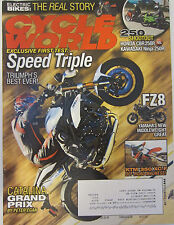 Cycle World Magazine April 2011 Speed Triple Triumph's Best Ever! Honda CBR250R
